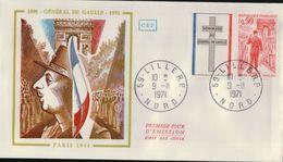 1700A  ENVELLOPE  1    IER  JOUR   1971 NEUVE - Autres