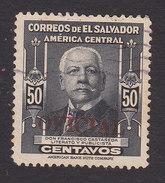 El Salvador, Scott #O367, Used, Salvador Rodriguez Gonzalez Overprinted, Issued 1948 - El Salvador