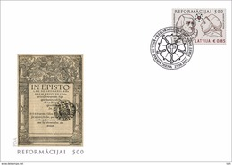 Latvia.2017.Martin Luther.The 500th Anniversary Of The Reformation.FDC. - Letland