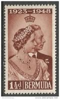 Bermuda. 1948 Royal Silver Wedding. 1½d MH. SG 125 - Bermuda