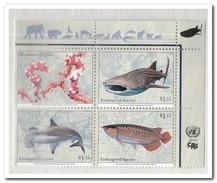 V.N. New York 2014, Postfris MNH, Fish - New York - Hoofdkwartier Van De VN