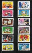 """FRANCE   AUTOADHESIFS     N°   1045 à 1056   Obl.  Série Complète  """"Bonne Année Toute L'année """" (2014) - Adhesive Stamps"""