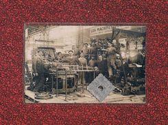 42 CARTE PHOTO TISSAGE MODERNE J. JURINE LE CHAMBON - FEUGEROLLES - Francia