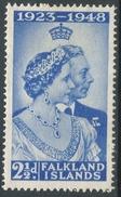 Falkland Islands. 1948 Royal Silver Wedding. 2½d MH. SG 166 - Falkland Islands
