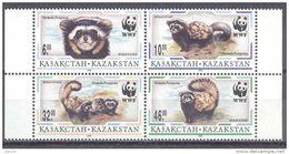 1997. Kazakhstan, WWF, Animals, 4v In Block, Mint/** - Unused Stamps