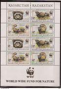 KAZAKSTAN WWF, 1997 Mammals Sheet - Unused Stamps
