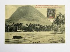 C.P.A. TAHITI : HUAHINE : Moua Tapu Et Chenal De Maeva Animé, Timbre 1908 - Polynésie Française