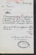 EQUITATION FACTURE ILLUSTRÉE DE 1937 SOCIETE DES COURSES DE TARBES : - Equitation