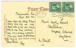 RB 1175 - 1910 Postcard - Trams At Park Entrance - Painsville Ohio USA - 1c Rag Paper? - United States
