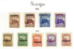 NICARAGUA, Telegraphs, * MLH, F/VF - Nicaragua