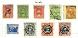 ECUADOR, Telegraphs, */o M/U, F/VF - Equateur