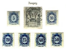 HUNGARY, Telegraphs, Yv 9/15, */o M/U, F/VF - Télégraphes