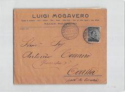 15520 MOGAVERO SALICE SALENTINO X TARSIA - Storia Postale