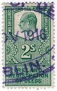 (I.B) Edward VII Revenue : Ireland Registration Of Deeds 2/- - 1902-1951 (Kings)