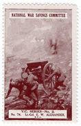 (I.B) Cinderella : National War Savings (VC Series 74) EW Alexander - 1902-1951 (Kings)