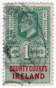 (I.B) Edward VII Revenue : County Courts Ireland 1/- - 1902-1951 (Kings)