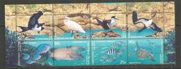 La Faune De L'île Christmas, Oiseaux Et Poissons. Bloc De 8 Timbres Neufs ** - Christmas Island
