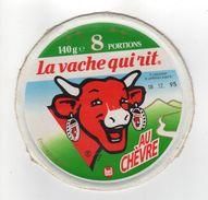 ETIQUETTE DE FROMAGE LA VACHE QUI RIT AU CHEVRE 8 PORTIONS - Fromage