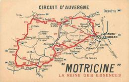 CPA - CIRCUIT D' AUVERGNE - COUPE GORDON BENETT - 1905 - CARTE PUB OFFERTE PAR MOTRICINE - TB** - France