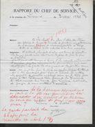EQUITATION LETTRE COMMERCIALE DE 1936 RAPPORT DU CHEF DU SERVICE LISIEUX : - Equitation