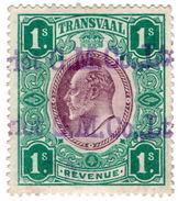 (I.B) Transvaal Revenue : Duty Stamp 1/- (1906) - Afrique Du Sud (...-1961)