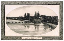 RB 1175 - Early Framed Postcard - Rose Bay Sydney - New South Wales Australia - Sydney