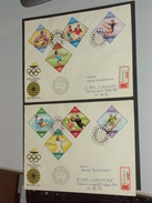 UNGARN HUNGARY  FDC 15.7.1972 (Michel Nr. 2773A-2780A) Olympische Sommerspiele München - Sommer 1972: München