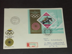 UNGARN HUNGARY  FDC 15.7.1972 (Michel Nr. 2781A - Block 91A) Olympische Sommerspiele München - Sommer 1972: München