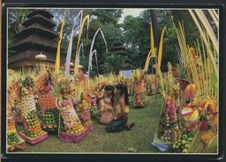 °°° GF400 - INDONESIA - BALI - FESTIVAL OFFERINGS - 1986 With Stamps °°° - Indonesia