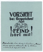 "(I.B-CK) Germany (Great War) Cinderella : ""The Enemy Hears"" - Germany"