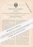 Original Patent - H. Lodders , Hamburg / Ottensen  1882 , Ventilvorrichtung Am Petroleum - Brenner   Gas , Licht , Lampe - Historische Dokumente