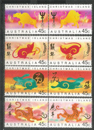 CHRISTMAS ISLAND. Chinese New-Year (CNY) Tiger,rabbit,rat,buffalo. 8 Stamps Mint ** Pair Se-tenant - Nouvel An Chinois