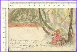 M004  Cartolina Postale  Angeli Angel 1906 VG Natale Christmas - Anges