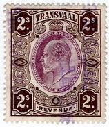 (I.B) Transvaal Revenue : Duty Stamp 2/- (1906) - Afrique Du Sud (...-1961)