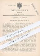 Original Patent - G. Goliasch & Co. , Berlin , 1883 , Zünder Mit Zünd- U. Reibmasse | Zündhölzer , Streichhölzer , Feuer - Historische Dokumente