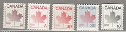 CANADA 1982 – 1984 Definitive Set Booklet Stamps MNH (**) #21533 - 1952-.... Règne D'Elizabeth II