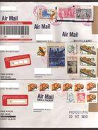 3 Registered Envelopes Sent Puyallup-Tegucigalpa Stamps $1, $2, $4, $5 Of Fauna, Columbus, Bicentennial Era, 1999-2003 - Lettres & Documents