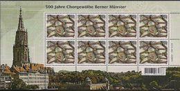 2017 Schweiz Mi. 2512-3**MNH      500 Jahre Chorgewölbe Des Berner Münsters - Blocks & Kleinbögen