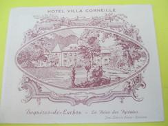 Carte Commerciale à 2 Volets/ Hôtel Villa Corneille/ Bagnéres De Luchon/ La Reine Des Pyrénées/ Vers 1930-1950   CAC104 - Francia