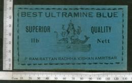 India 1960's Hindu Goddess Ganga Brand Dyeing & Chemical Print Label # L8 - Reclame