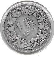 *switzerland 1 Franc 1877  Km 24    Fr+ - Suisse