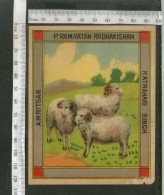 India 1960's Three Sheeps Brand Dyeing & Chemical Germany Print Label # L32 - Advertising