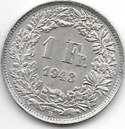 *switzerland 1 Franc 1943  Km 24  Xf+ !!! - Suisse