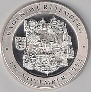 "999/1000 Silber Medaille "" Baden-Württemberg "" PP   36 Mm DMR Rohgewicht : 14 G Prägung : Hochrelief - Souvenirmunten (elongated Coins)"