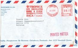 Calculator LCD GAME Clock Manufacturer Tronica 22.04.1991 Red Meter N 1897 Hek Lei Hong Kong - Hong Kong (...-1997)
