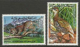 MOROCCO  1974  - FRANCOLIN,LEOPARD-  SET MNH - Oiseaux