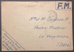 Enveloppe Franchise Militaire Du B.P.M. 601 AUTRICHE 25 Octobre 1945 Vers La Verpillière - Postmark Collection (Covers)