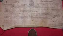1757 - Exceptionnel:  Diplôme Bac Et Licence Littéraire écrit En Latin+sceau De Cire+autorisation  Duc De Berry Port Fle - Manuscrits