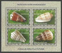 WALLIS & FUTUNA 2005 SHELLS MARINE LIFE M/SHEET MNH - Wallis And Futuna