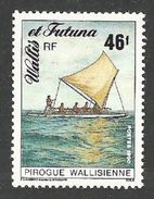 WALLIS & FUTUNA 1990 SHIPS BOATS PIROGUE OUTRIGGER CANOE SET MNH - Unused Stamps